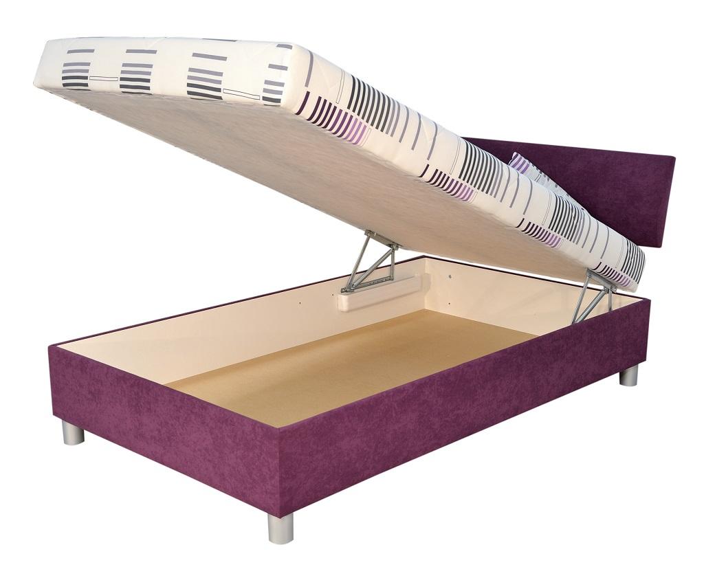 Čalouněná postel George - úložný prostor