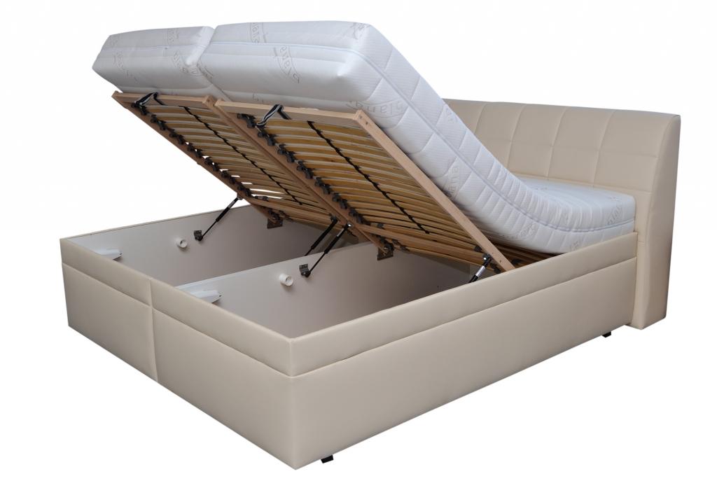 Čalouněná postel Valencia - detail úložného prostoru