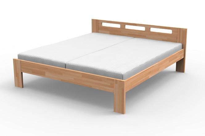 Drevená posteľ z masívu Monika