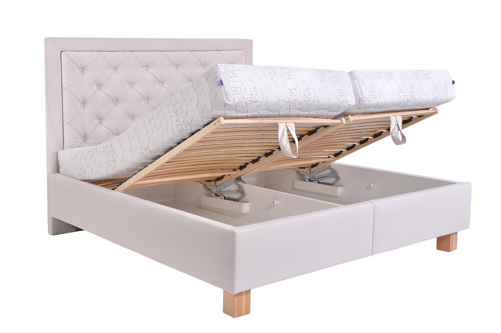 Čalouněná postel Elizabeth III. - úložný prostor