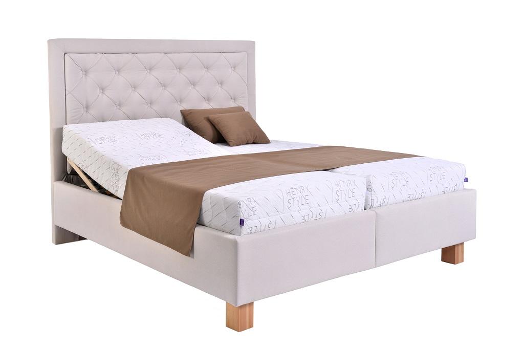 Čalouněná postel Elizabeth III. - funkce polohování