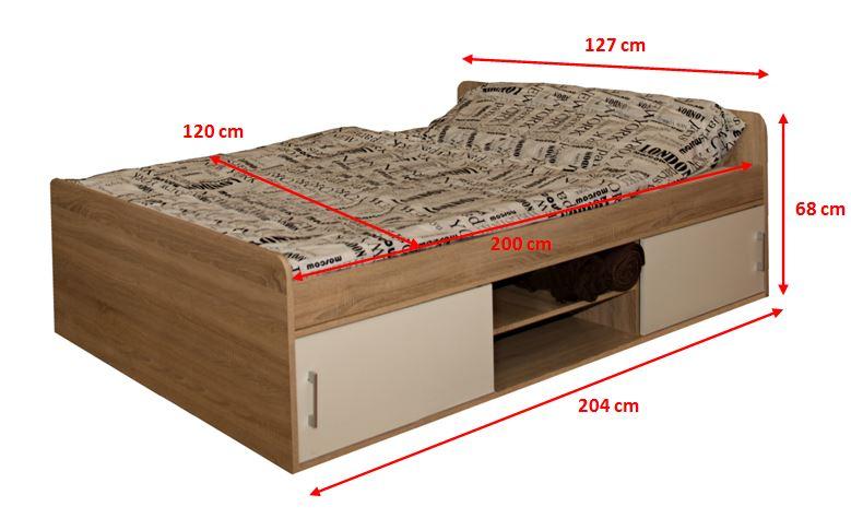 Rozmery drevenej postele Sáva II
