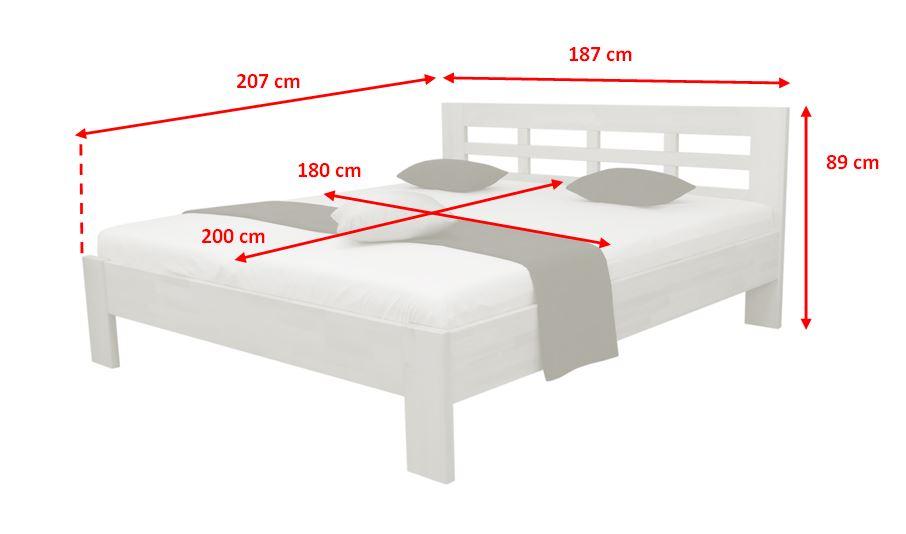 Rozměry postele Vegas