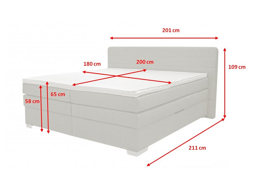 Rozměry postele Poppy