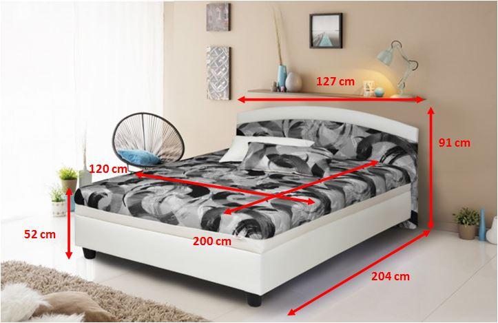 Rozmery čalúnenej postele Zonda