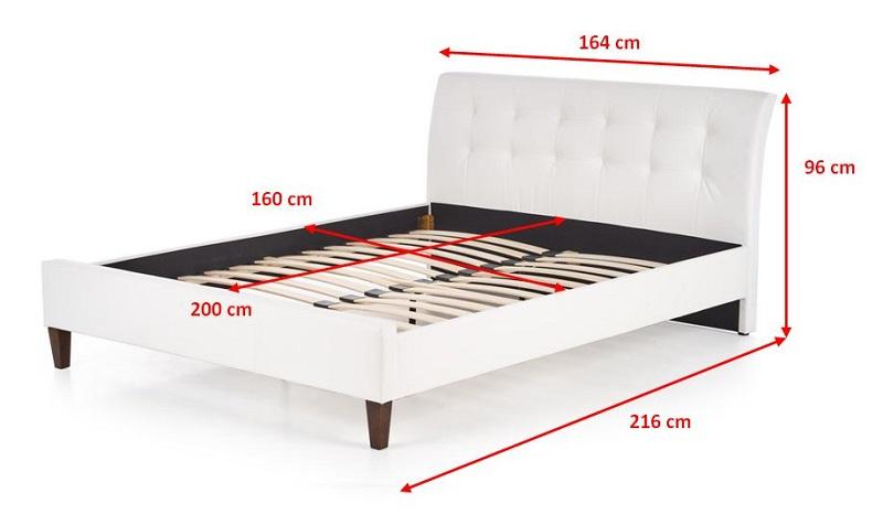 Čalouněná postel Kirsty - rozměry