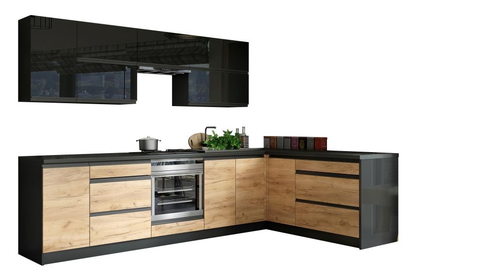 Kuchyně Brick - levý roh