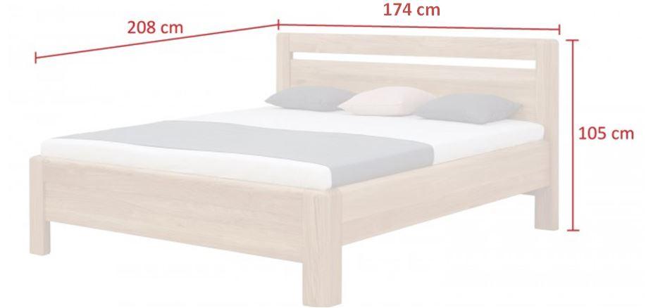 Rám postele Adriana - rozměry