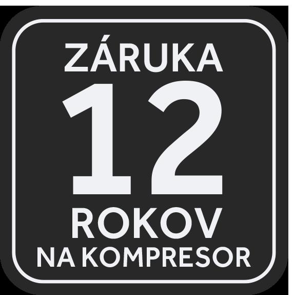 12 rokov záruka na kompresor