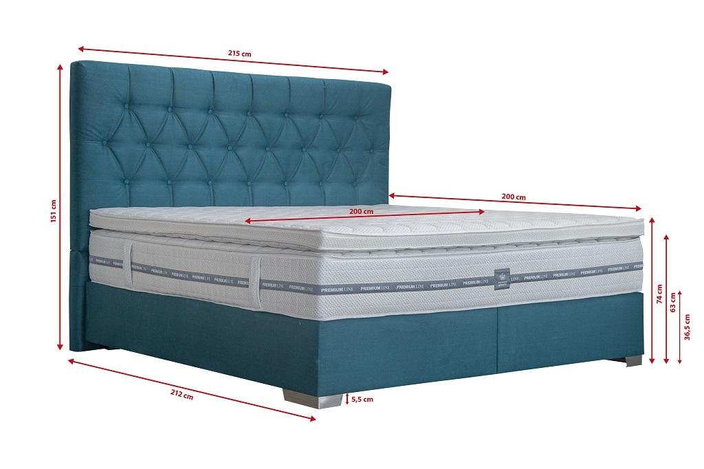 Manželská posteľ Edward - rozmery