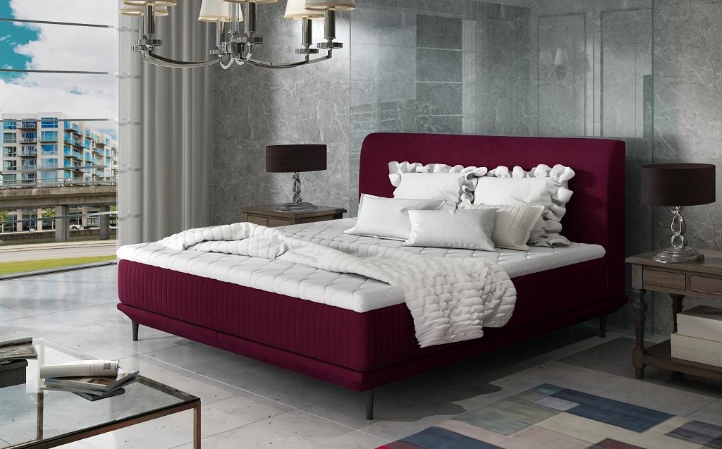 Rozmery čalúnenej manželskej postele Scarlett