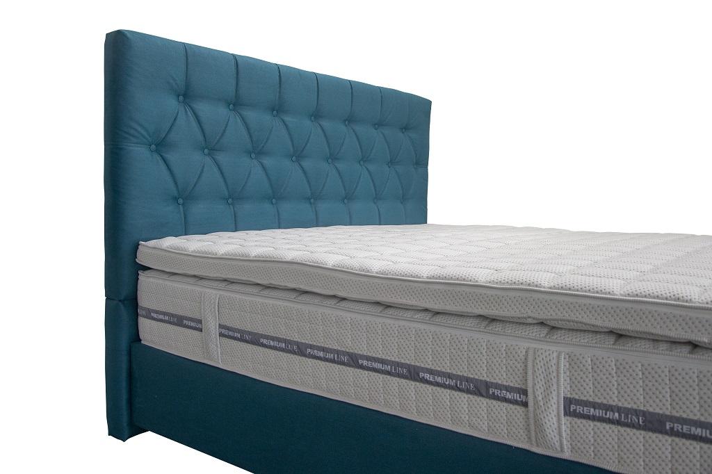 Kontinentálna posteľ Edward - topper a matrac