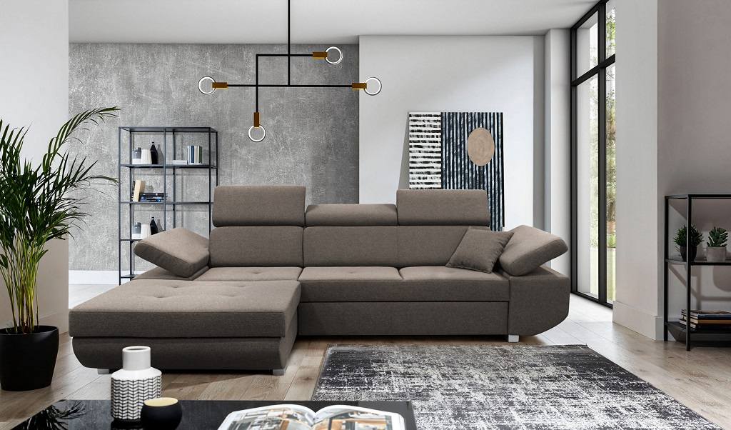 Hnedá sedačka Gans - interiérové foto