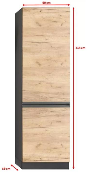 Potravinová skříň Brick - nákres s rozměry
