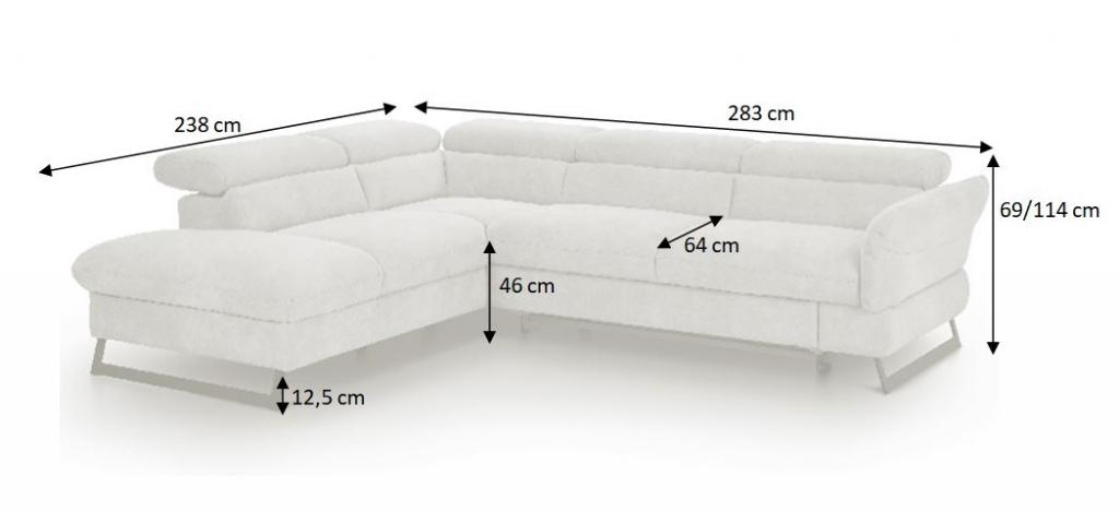 Nákres s rozměry