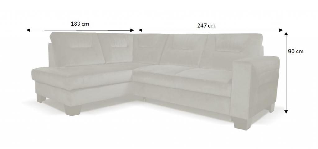 rozměry sedačky Bitonto