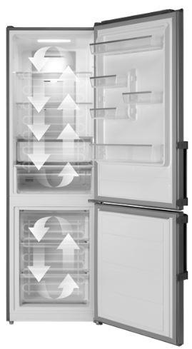 Chladnička s mrazničkou Concept LK5470SS