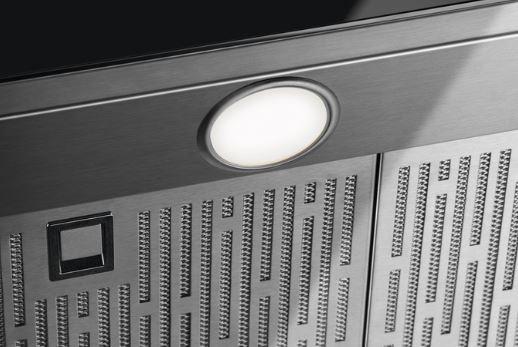 Detail LED osvetlenia recirkulačného digestora Electrolux KFTB19X
