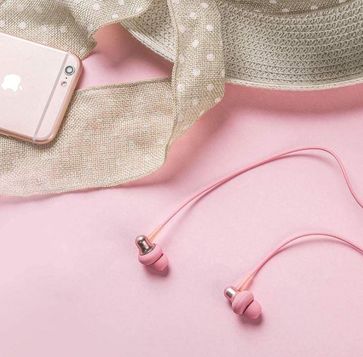 Štupľové slúchadlá 1MORE Stylish In-Ear Headphones Pink