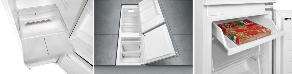Vnútorné priestory vstavanej chladničky Concept LKV4460