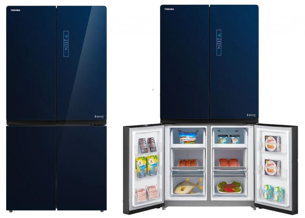 Modrá chladnička Toshiba GR-RF646WE-PGS