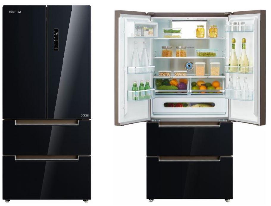 Čierna americká chladnička Toshiba GR-RF532WE-PGJ(22)