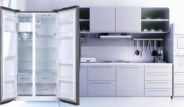Americká chladnička v kuchyni Toshiba GR-RS508WE-PMJ
