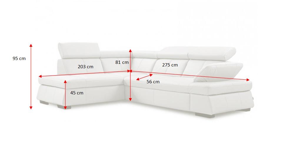 Rozměry sedačky Malpensa