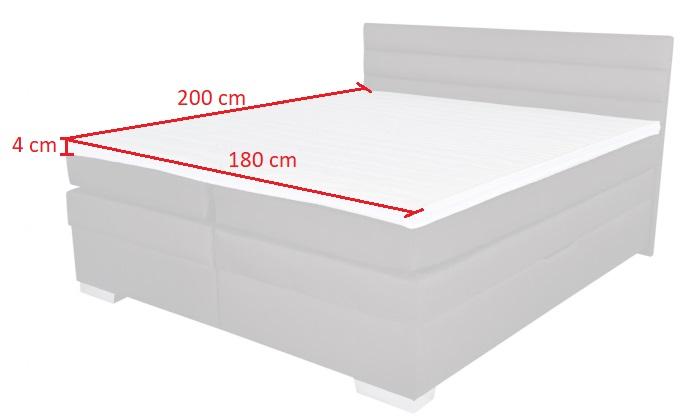 Topper 180x200 Boxspring.Topper Boxspring Twister 180x200 Cm