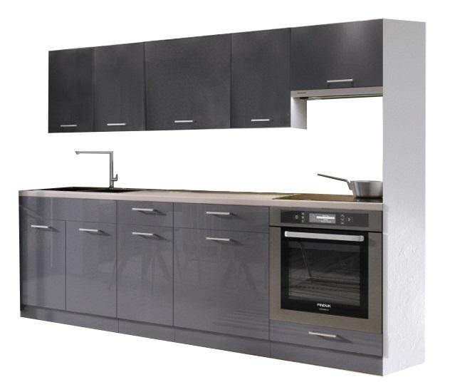 Šedá kuchynská linka Modern Lux 240 cm