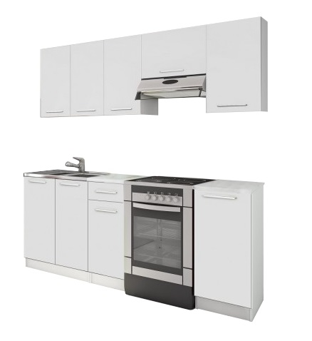 Biela kuchynská linka Eco 220 cm