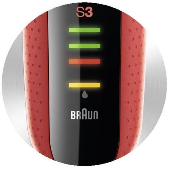 Holiaci strojček Braun Series 3-3050cc - indikátor batérie