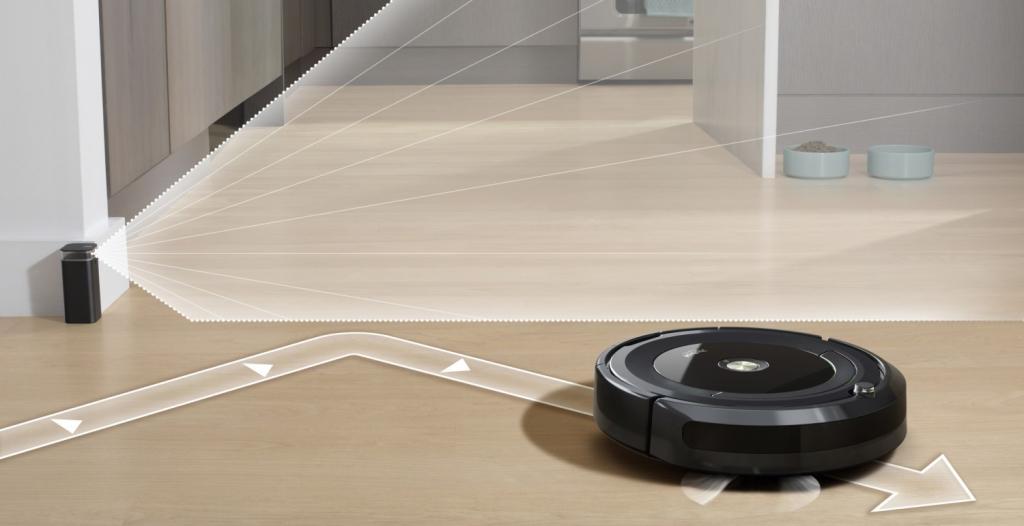 Robotický vysávač iRobot Roomba vysáva miestnosť