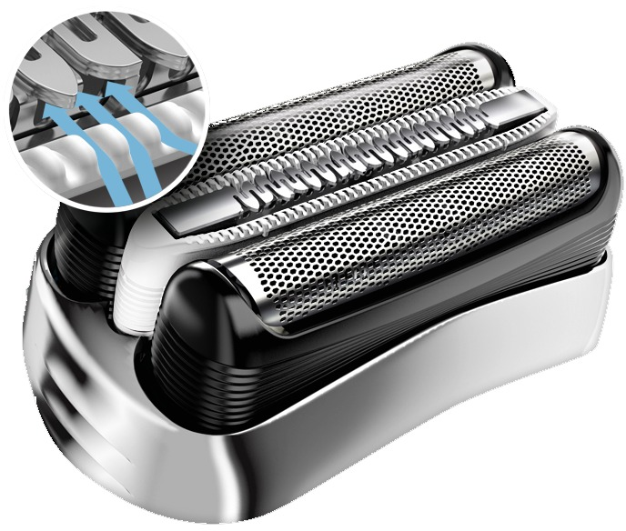 Holiaci strojček Braun Series 3-3045s - detail hlavice
