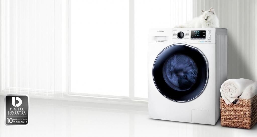 Set práčka sušička Samsung WD90J6A10AW/LE