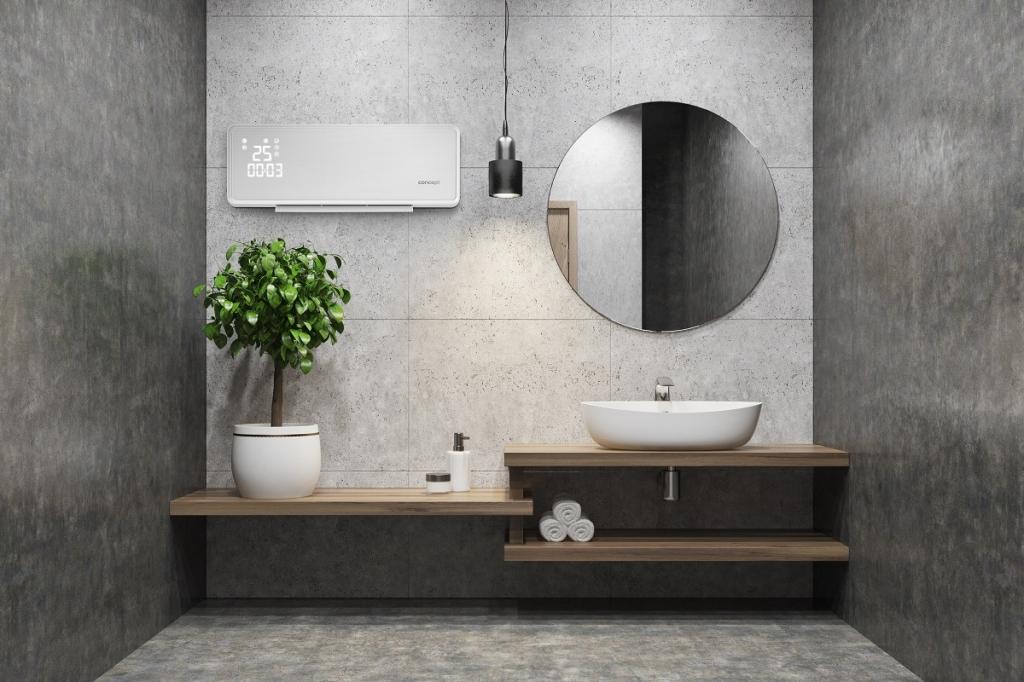 Ohrievač do kúpeľne skvele ladí s dizajnom celej kúpeľne