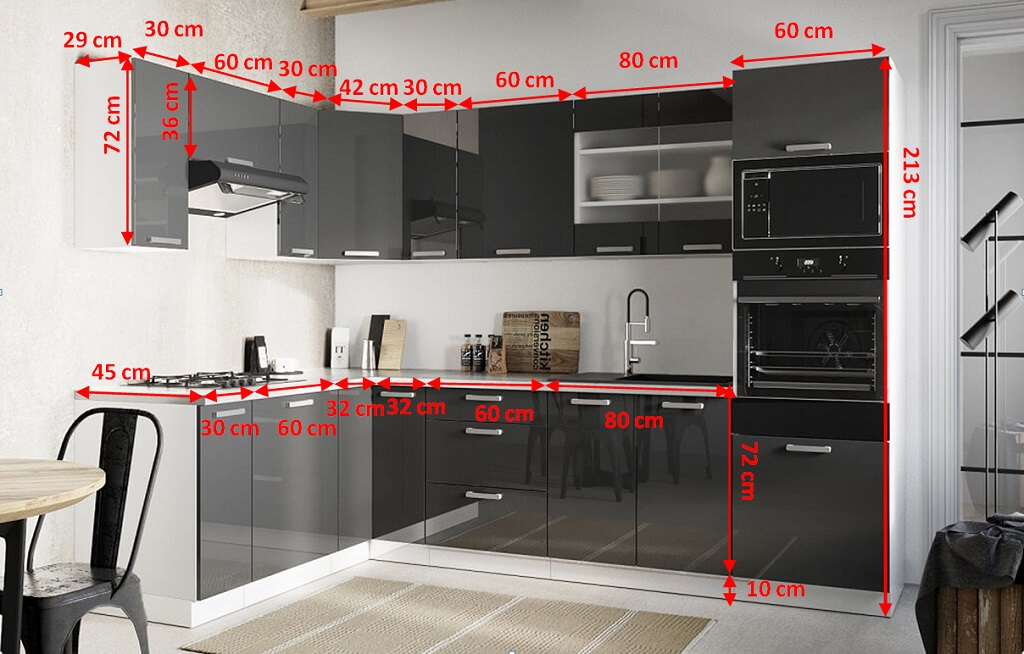 Nákres kuchyně Vicky