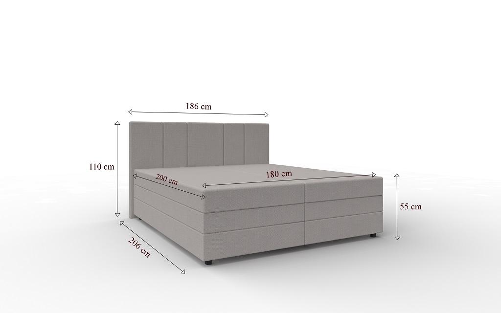 Rozměry postele Alexa