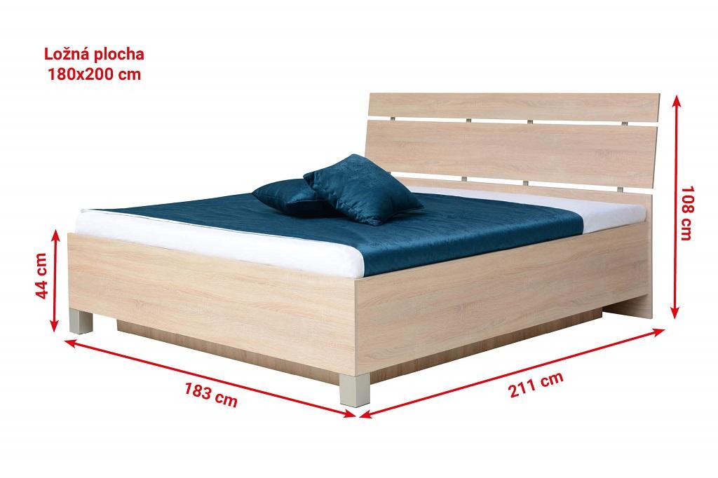 Rozměry postele Zara