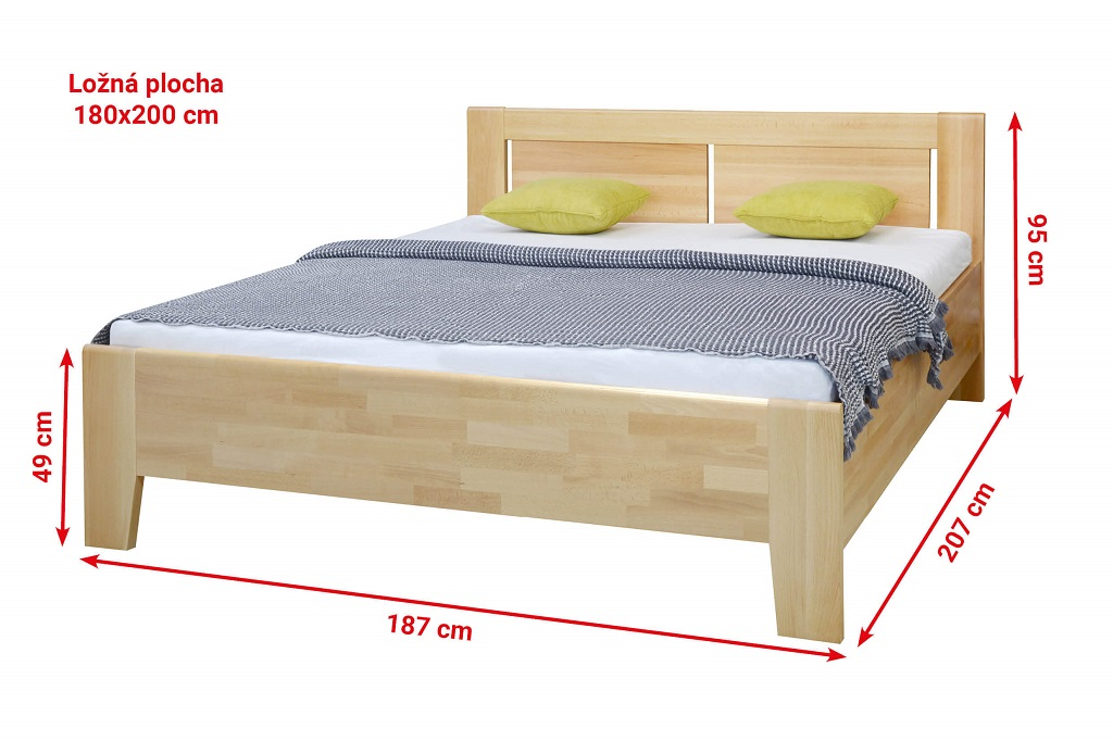 Dřevěná postel Noe