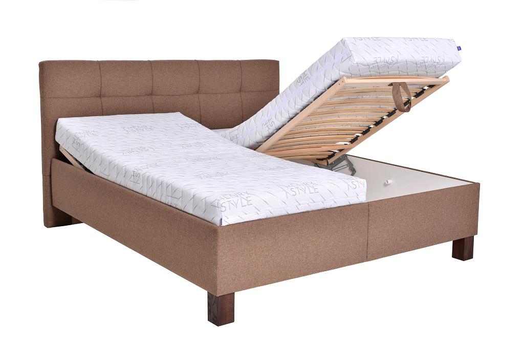 Čalouněná postel Mary - polohování roštů