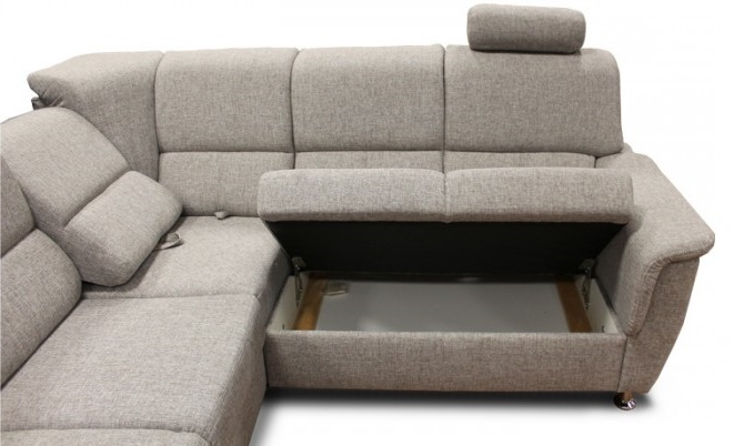 Úložný prostor a polohovací opěráky sedačky Duo Panama