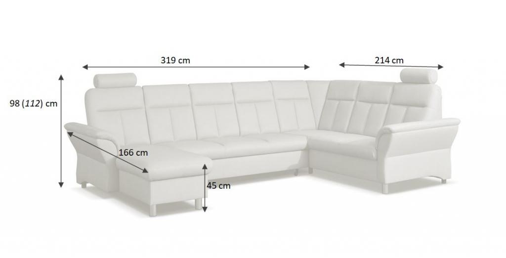 Rozměry sedačky Bolonia