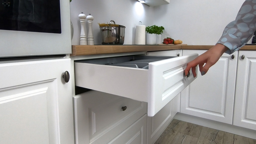Provensálska kuchyňa Amelia - detail zásuvky