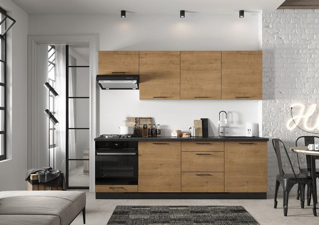 Moderná kuchyňa Natali v dekore dub lefkas