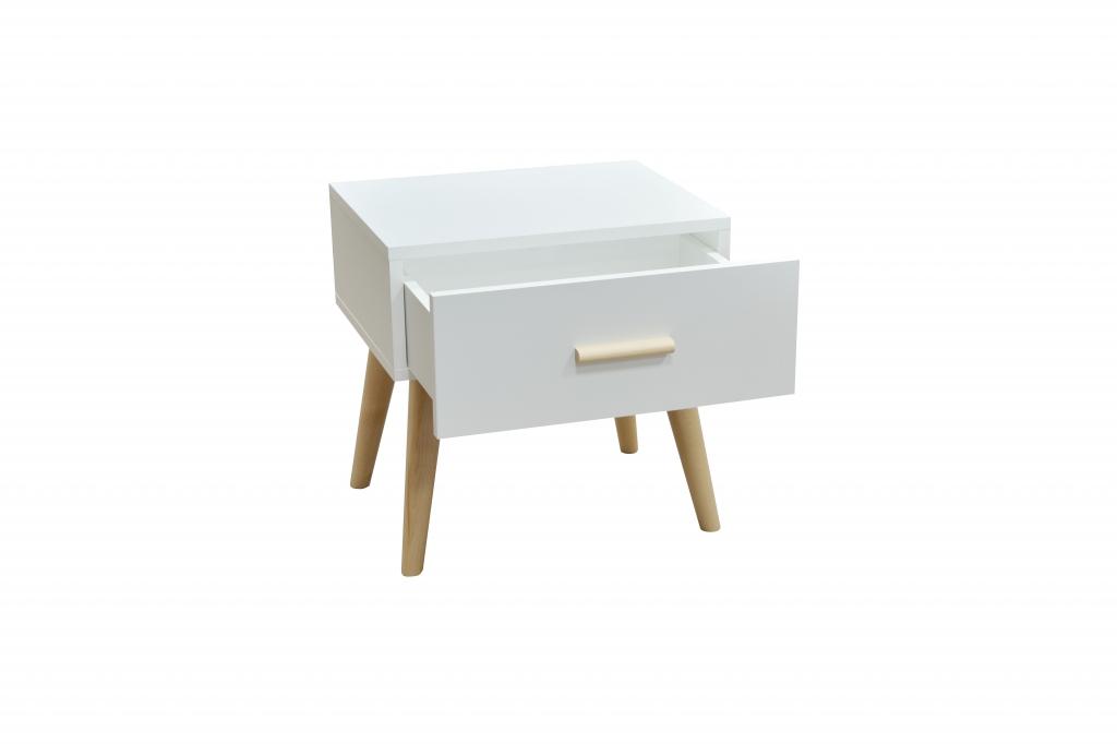 Biely nočný stolík Creative