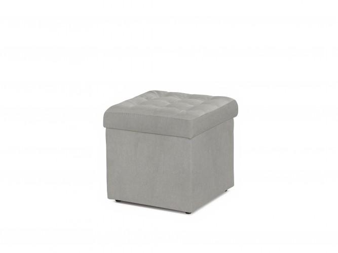 Sivá taburetka s úložným priestorom