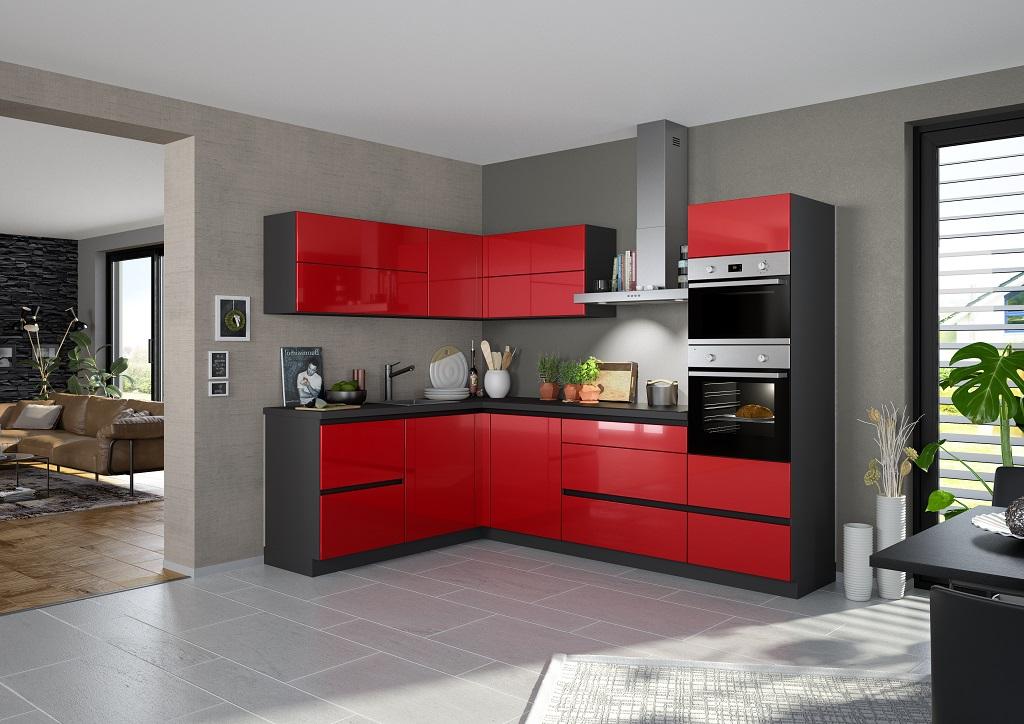 Červená kuchynská linka Henry Style Eugenie