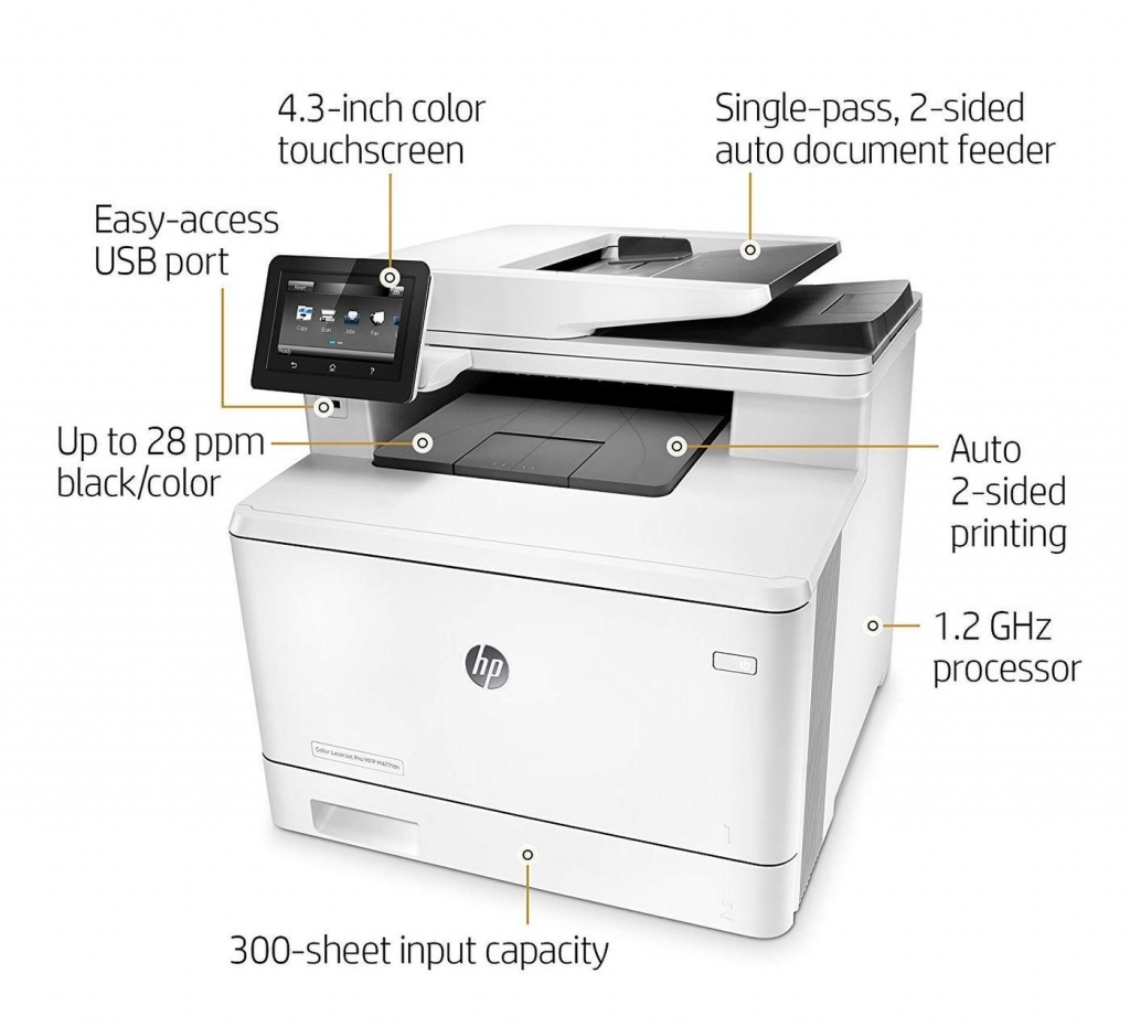 Multifunkční laserová tiskárna HP Color LaserJet Pro MFP M477fdn
