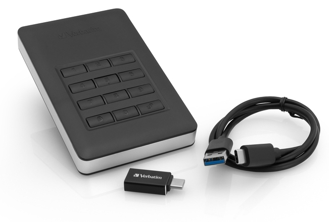 Externý hard disk Verbatim Secure HDD 1TB USB 3.1